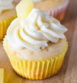 Low Fat Pineapple Bliss Cupcake